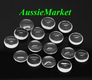 30 x cabochons clear glass dome flat back round transparent 12mm x 4mm jewellery