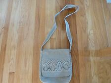 Linen Messenger Shoulder Bag or Cross body gray made in Lithuania by Siulas