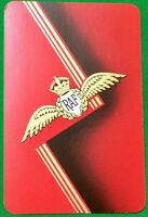 Playing Cards Single Card Old Art Deco RAF ROYAL AIR FORCE WINGS Picture Design