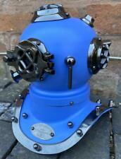 Blue Brass Divers Helmet US Navy Mark IV - Display piece - Maritime Nautical