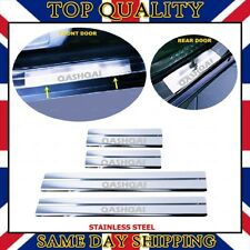 Chrome Door Sill Protector 4 door S.STEEL for NISSAN QASHQAI from 2007 to 2014