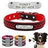 Hundehalsband mit Namen Personalisiert Leder Geflochten Halsband Namen Gravur