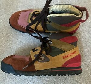 Vintage Salomon 80s-90s Womens size 5.5 Hiking Backpacking Boots ~ Nice!