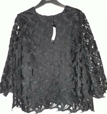 M&S Black Lace Top 16 New Blouse BNWT M&S Shell Top Evening Party Wedding