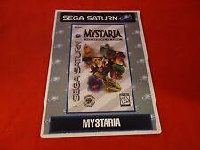 Mystaria Sega Saturn Vidpro Promotional Display Card ONLY