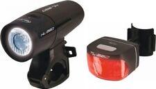 CONTEC LS380 Fahrrad LED Beleuchtungs Set Fahrradlicht Rücklicht mit Prüfzeichen