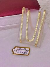 GoldNMore: 18K Gold Necklace Chain Flat 18 inches