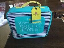 Happy Jackson Canvas Lunchbag, Turquoise, yellow,black,white.