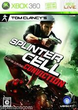 Used Xbox 360 Splinter Cell: Conviction MICROSOFT JAPAN JAPANESE JAPONAIS IMPORT