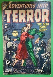 ADVENTURES INTO TERROR #30 RARE Golden Age Horror 1954 Atlas Comics FR/GD