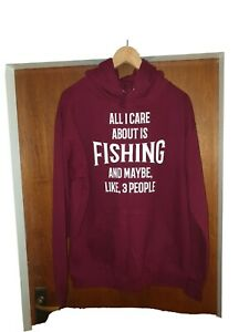 Fishing Hoodie. New. Medium.