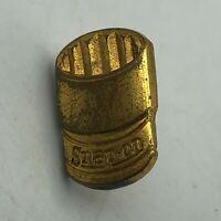 Rare Snap-On Tools Vintage Gold Tone Socket Small Advertising Lapel Pin  R1