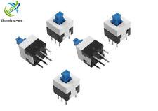 20PCS 8X8mm Cap Self-locking Type Square Blue Button Switch Control NEW