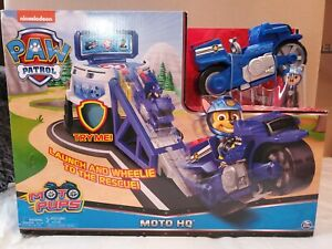 PAW Patrol Moto Pups Moto HQ With Chase And Motorcycle With Ramp! - Nickelodeon