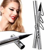 Schwarz Wasserfest Fluid Flüssiger Lidstrich Eyeliner Make-up Neu P2L6