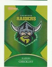 2016 NRL TRADERS PARALLEL CANBERRA RAIDERS CHECKLIST LOGO CARD PO11 FREE POST