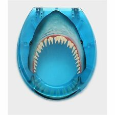 Loo With A View SHARK TOILET SEAT 2Pcs, Hygienic Finish BLUE *Australian Brand