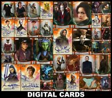 Topps Star Wars Trader WOMEN OF STAR WARS Wave 2 [37 CARD ORANGE +SIGNATURE SET]