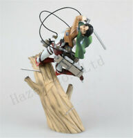 Anime Attack On Titan Levi Trunk Stand Battle Edition Figure Model Toy In Box
