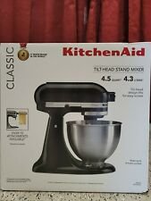 KitchenAid Classic Series 4.5-Qt. Tilt-Head Stand Mixer K45SSOB - FACTORY SEALED