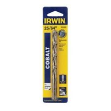 "Irwin Tools 3016025 Single Cobalt High-Speed Stee Reduced Shank, 25/64"" x 5-1/8"""