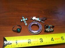 5 Piece Lot Sterling Silver 925 Tribal  Broach  Rings Pendant  handmade