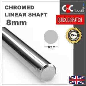 8mm Smooth Chromed Steel Linear shaft Round bar Rail slide rod Bearing 3D Printe