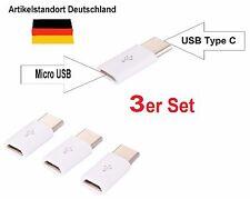 Adapter Typ-C 3.1 zu Micro USB 2.0 Konverter Daten Kabel Ladekabel schnell weiß