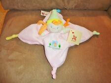 Clown Girl Pastel Pink Belgium Nicotoy Baby Security Blanket Plush Rattle Lovey