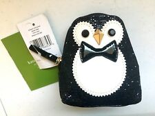 NWT Kate Spade Imogene Penguin Coin Purse Clifton Lane Zip Around WLRU2690