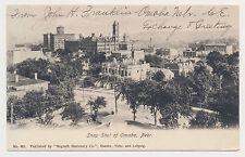 Old undivided back postcard AERIAL VIEW SNAP SHOT OF OMAHA, NEBRASKA mailed 1906