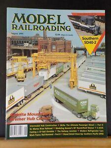 Model Railroading 1995 August Southern SD40-2 Intermodal hub construction  CP Ra