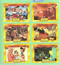 #D75.  DISNEY CLASSIC  STORY CARDS - PINOCCHIO , CARDS 7 to 12