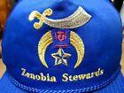 ZENOBIA STEWARDS baseball cap SHRINERS hat embroidery Mystic Shrine logo