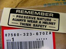 Honda CB 750 Four K1 K2 Aufkleber Tank Mark Drive Caution