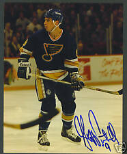 Geoff Courtnall signed St. Louis Blues hockey photo