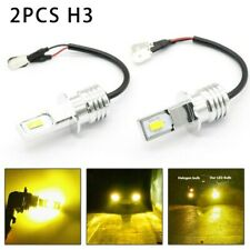 Yellow Super Bright H3 Csp Led Fog Lights Bulbs Conversion Set 80w 2000lm 3000k