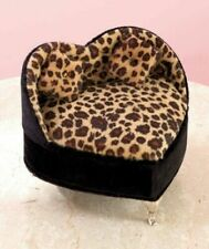 Animal Print Heart Plush Jewelry Boxes Leopard Ring Holder Jewelry Boxes