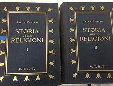 1939 TACCHI VENTURI -  STORIA DELLE RELIGIONI - 2 VOLUMI UTET