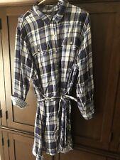 Gap ~ Blue Plaid Shirt Dress with Tie Belt ~ Gingham ~ XXL ~ NWT