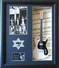 Ramones Framed Miniature Tribute Guitar with Plectrum PUNK