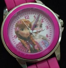 MINT CONDITION Frozen Pink WATCH SILICONE BAND New Battery