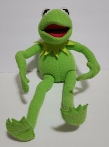 """VTG APPLAUSE PLUSH KERMIT THE FROG POSABLE JIM HENSON MUPPETS 19"""" Used Toy"""