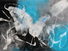 Large Original Art Abstract Modern Black Resin Painting Contemporary Tara Baden