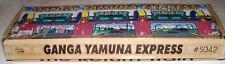 Vntg Wind-up Tin Return Train with Key in Box Ganga Yamuna Express Tin Treasures