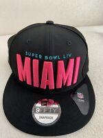 Miami Super Bowl 54 LIV Patch City Vice New Era Snapback 9Fifty 950 Hat NEW Rare