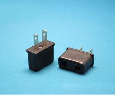5PCS European Standard 2 Pin Round to US Standard Power Plug Converter