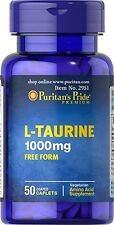 L-TAURINE 1000MG FREE FORM AMINO ACID FAT BURN DIET STRESS SUPPLEMENT 50 CAPLET