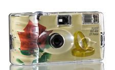 Einwegkamera ''Hochzeit'' ''Rote Rose + Ringe'' -ISO400 mit 27 Aufnahmen & Blitz