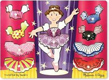 New Melissa & Doug Ballerina Dress-Up Wooden Peg Puzzle